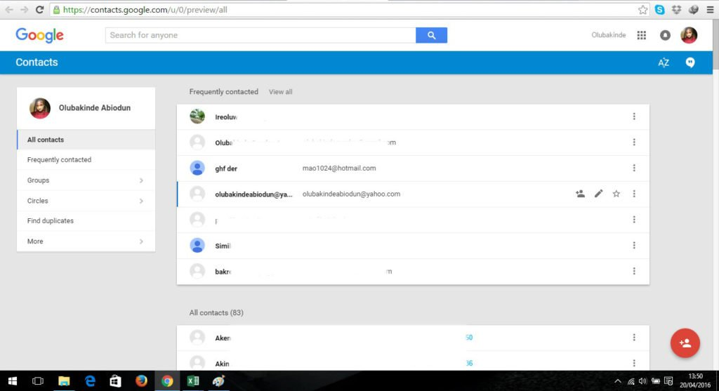 Back-up your phone contacts to your computer using Gmail