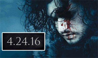 GAME OF THRONES Fans: Season 6 Return Tomorrow