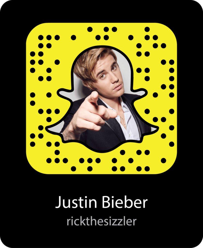 Justin Beiber snapchat code