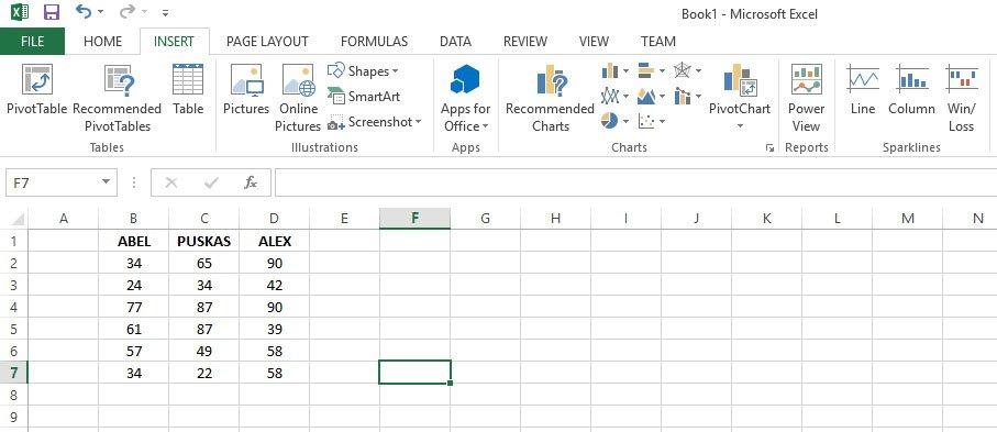 Plot graphs Microsoft Excel