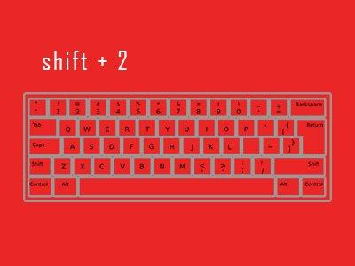 shift 2 @ keyboard feature