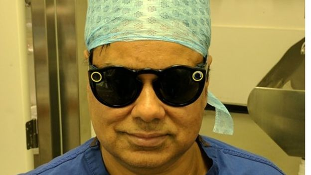 Dr Shafi Ahmed Snapcaht Spectacles