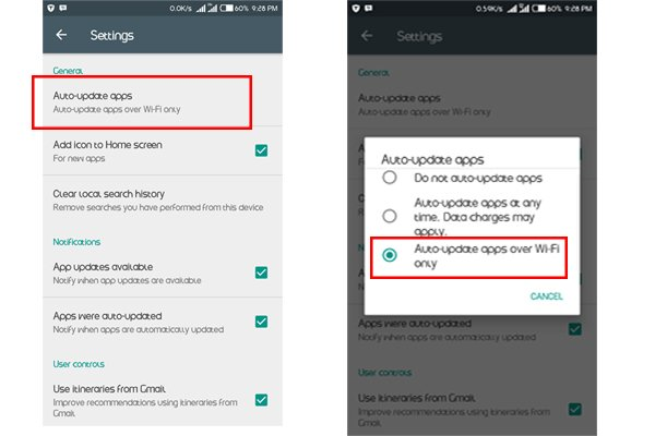 effective ways to reduce to data consumption on android