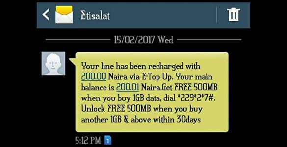 Get Free N200 Etisalat Airtime