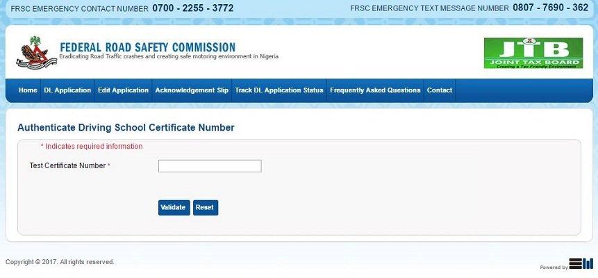 nigeria driver's license online