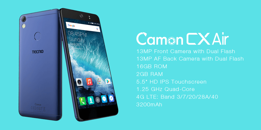 Tecno Camon CX Air price specs kenya