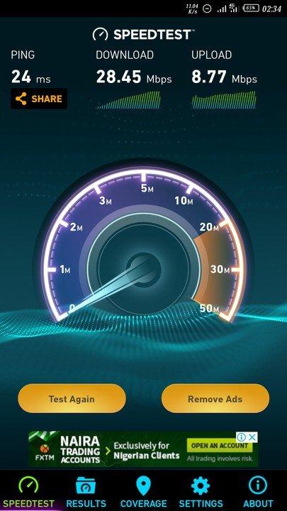 Airtel 4G LTE Speedtest