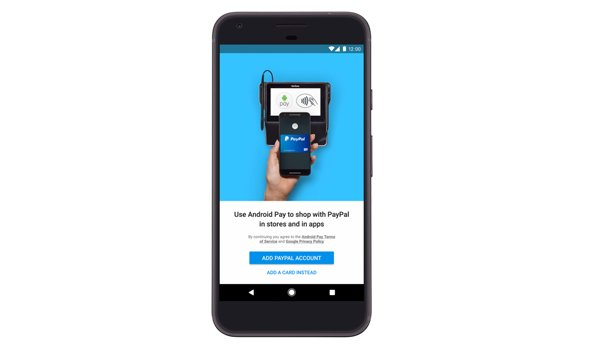 PayPal in android pay