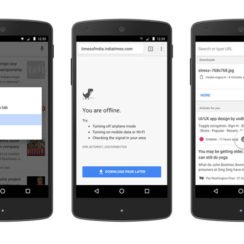 browse google chrome offline on android