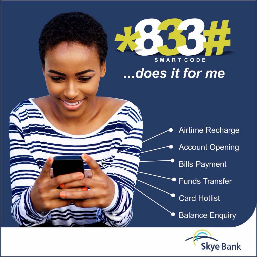 skye bank transfer code to other banks