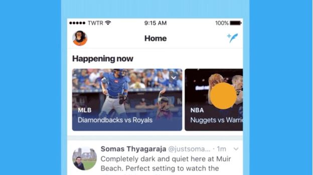 Twitter happening now feature