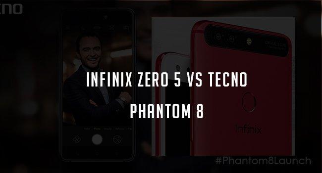 infinix zero 5 vs tecno phantom 8