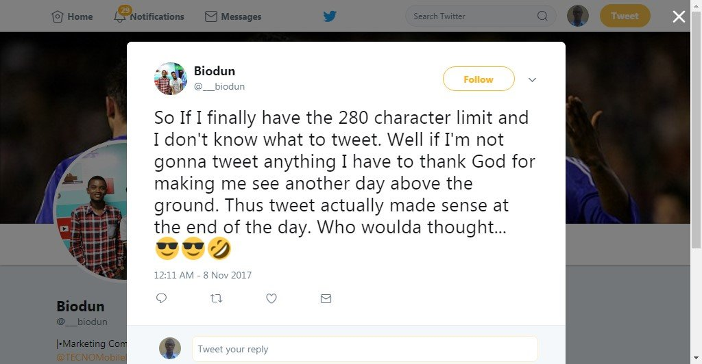 twitter 280 characters tweet