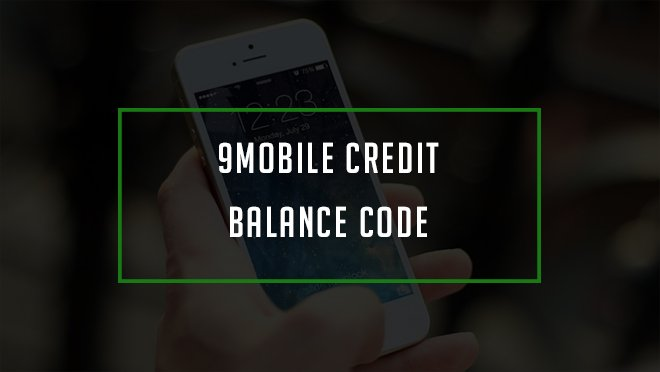 how to check credit balance on 9mobile