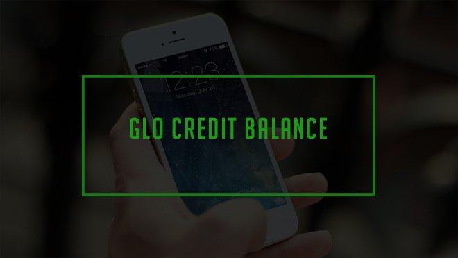 how to check credit balance on glo