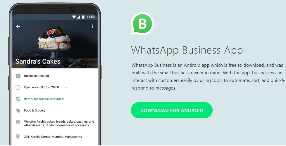 features of whatsapp business app