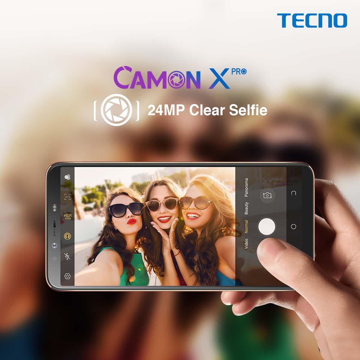TECNO Camon X Pro 4GB RAM 64GB 4G 24MP Selfie & 16MP Main Camera 3750mAh  Duos