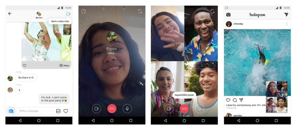 instagram video chats