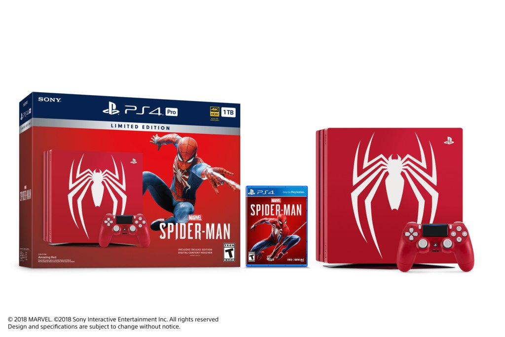 limited edition ps4 pro for spider-man