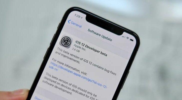 install iOS 12