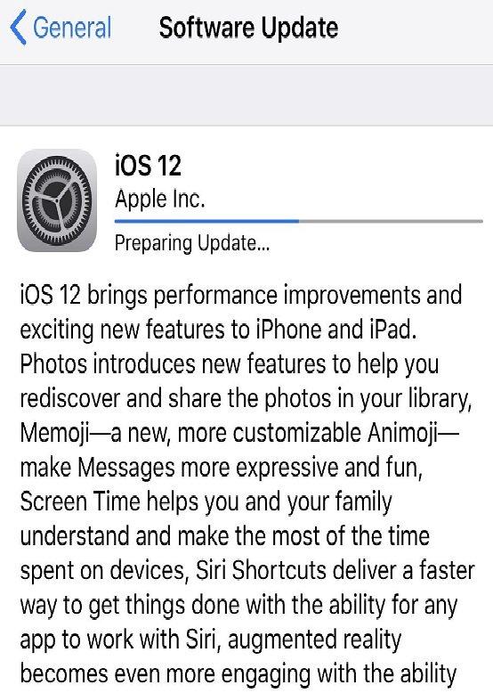 install iOS 12 gm software update