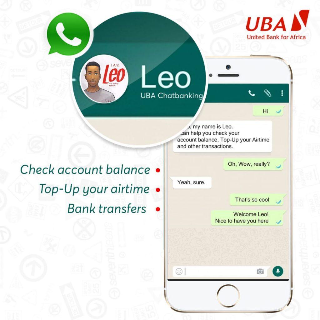 uba leo on whatsapp