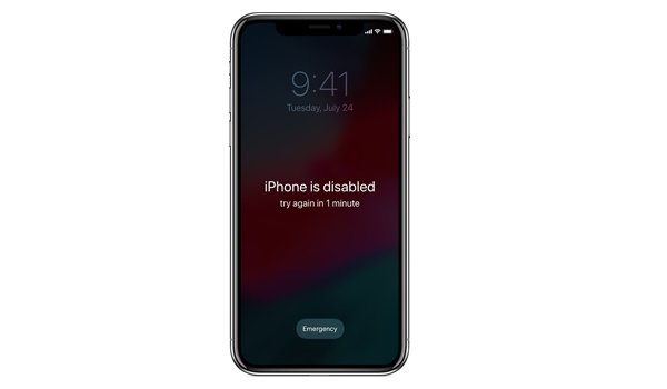 reset passcode on iPhone XS Max