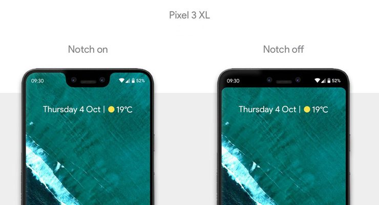 How to hide the Notch on Google Pixel 3 XL