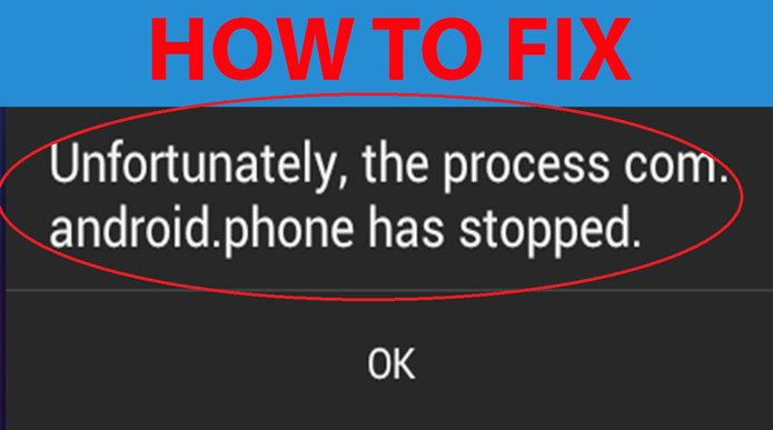 """How to Fix """"Unfortunately the process.com.android.phone Has Stopped"""""""