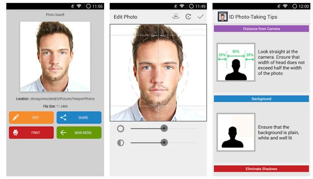 passport size photo editor apps for android