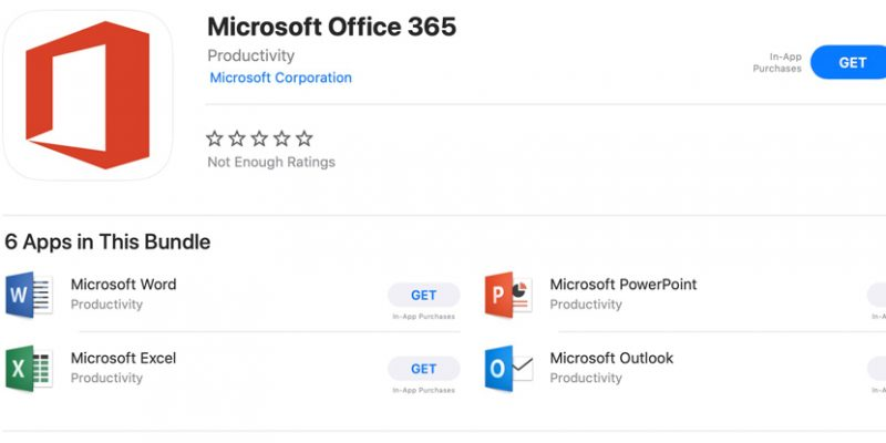 office 365 for mac app store