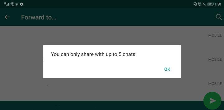 whatsapp forward limit - whatsapp fake news
