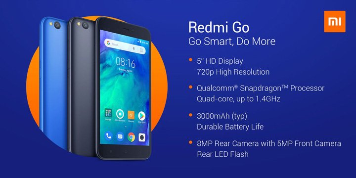 Redmi go with android go