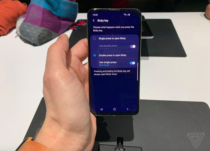 how to remap bixby button on galaxy s10