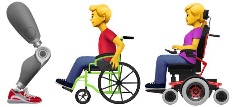 unicode new emoji for disabilities
