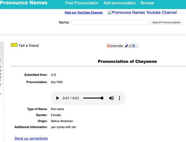 pronounce names