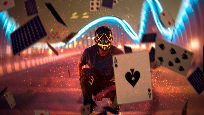 Joker Throwing Cards