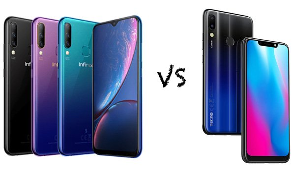 infinix hot s4 vs tecno camon 11 pro