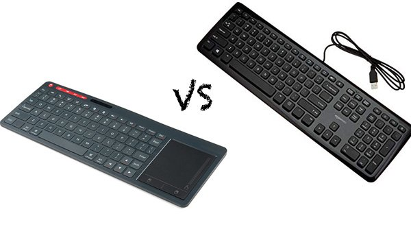 wireless kayboard vs wired keyboard