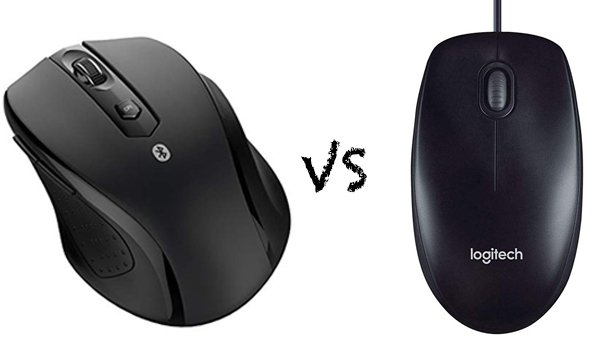 bluetooth mouse vs wired mouse