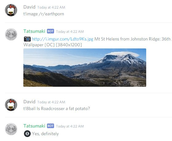 Tatsumaki discord bots