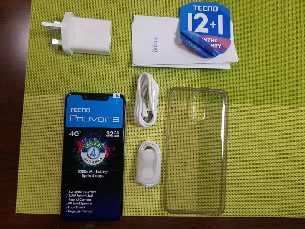 tecno pouvoir 3 accessories