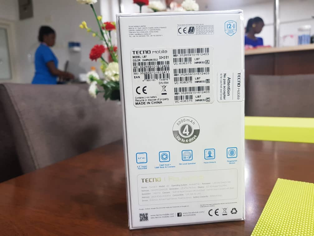 tecno pouvoir 3 packaging back
