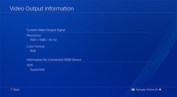 how to enable HDR on PS4