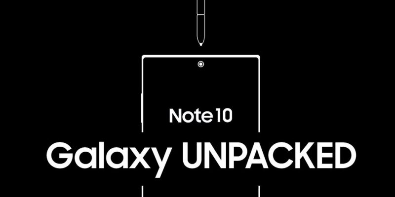 watch galaxy note 10 unpacked event live