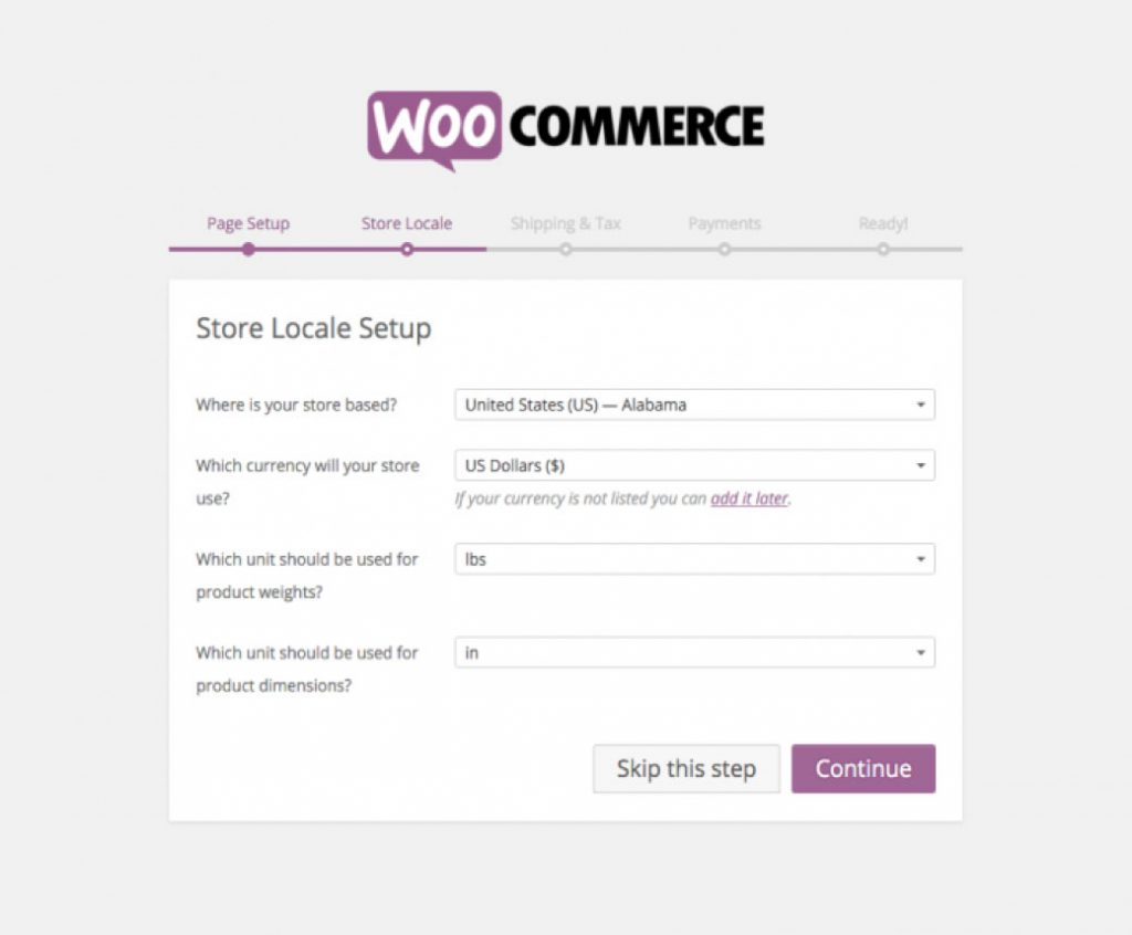 setting up WooCommerce for WordPress Online store