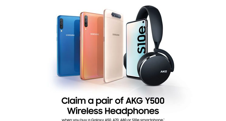 free AKG Y500 Headphones for Samsung Galaxy smartphones