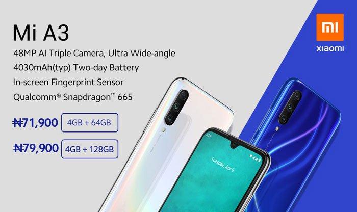 Xiaomi Mi A3 Price in Nigeria