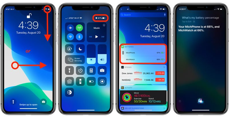 how to show battery percentage on iPhone 11 pro