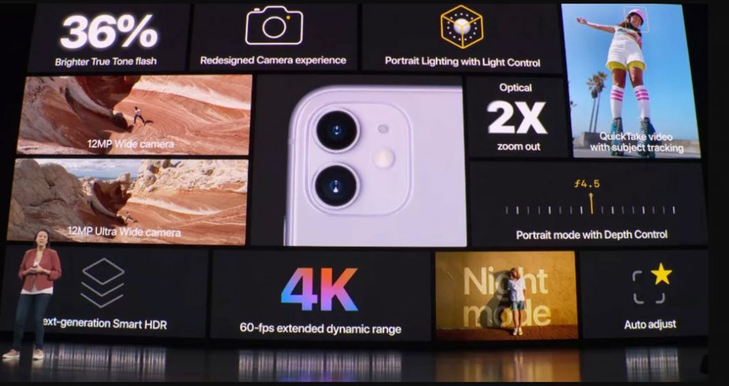 iPhone 11 camera specifications